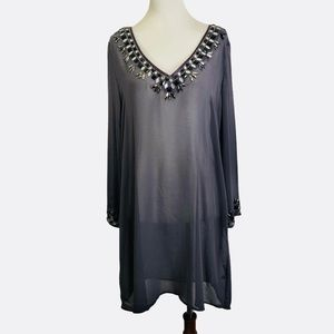 Love Stitch sheer jeweled cover up